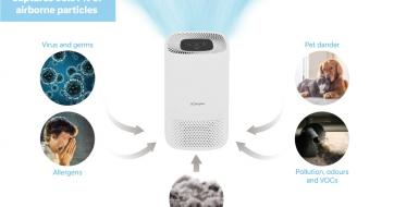 DXBRVAP4 Dimplex Air Purifier Infographic